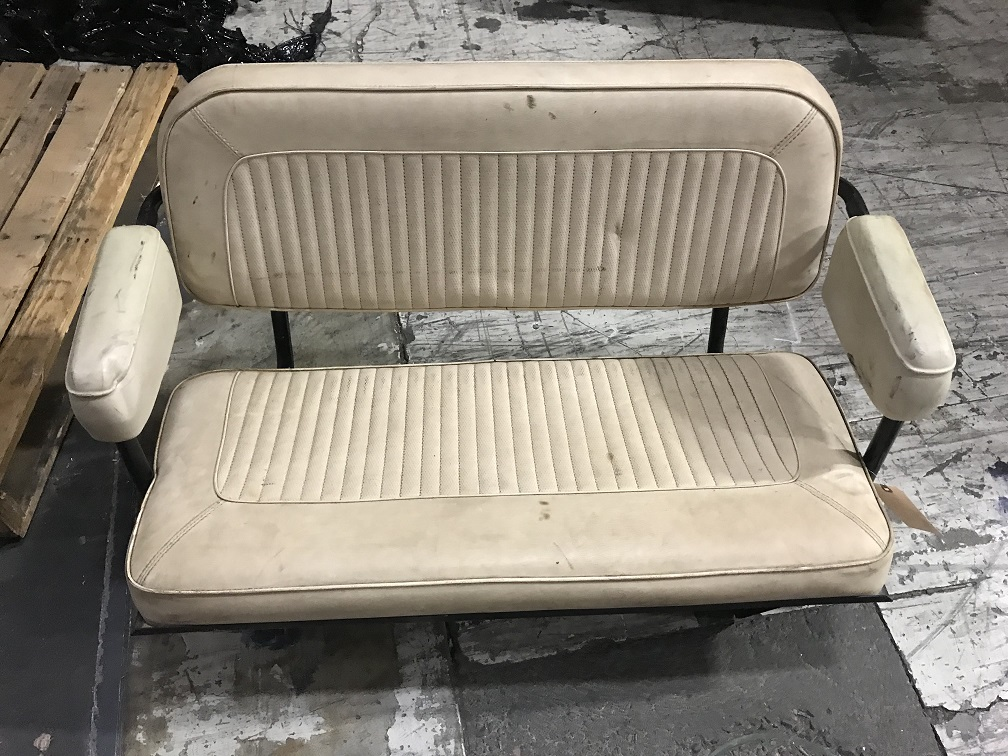 Rear Factory Bench Seat, Black, Used, #3, 66-77 Ford Bronco