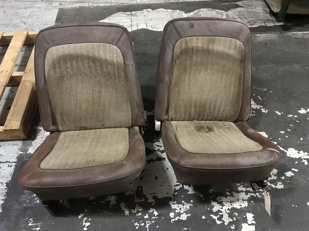 OEM Style Front Bucket Seats w/ Mounting Brackets, Pair, Used, 66-77 Early Ford Bronco #4
