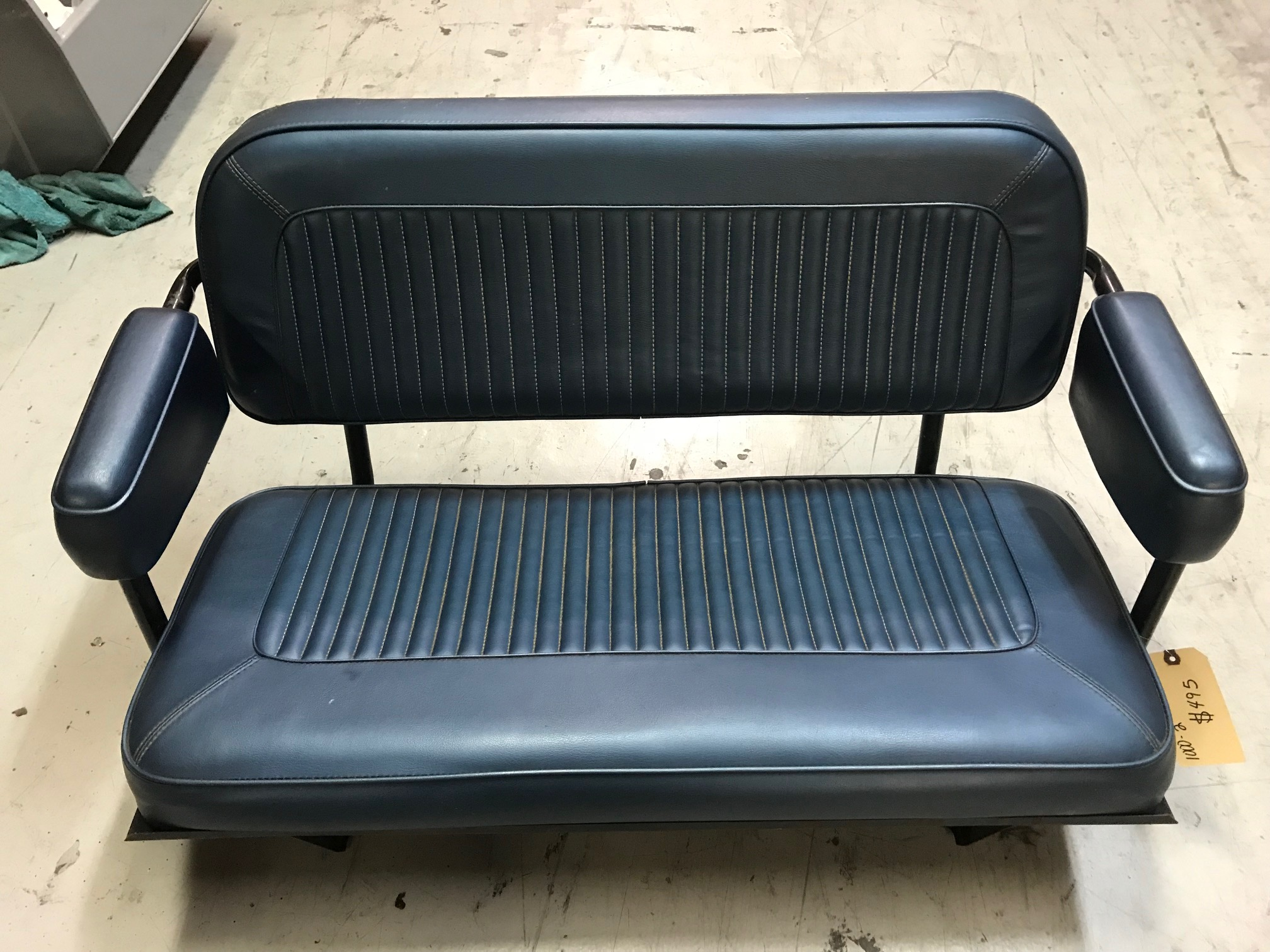 Rear Factory Bench Seat, Blue, Used, 66-77 Ford Bronco #2