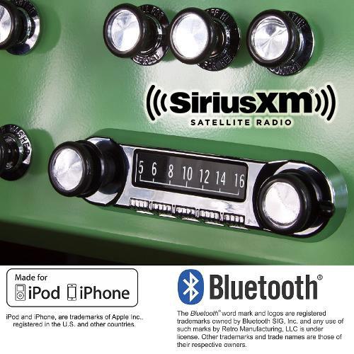 "OE Style Retrosound ""Model 4"" Radio - SiriusXM, AM/FM, Bluetooth, USB & Ipod/Iphone"