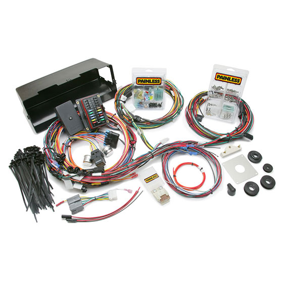 wiring harness pigtails toms bronco parts painless 28 circuit wiring harness for 66 77 ford bronco ground shipping