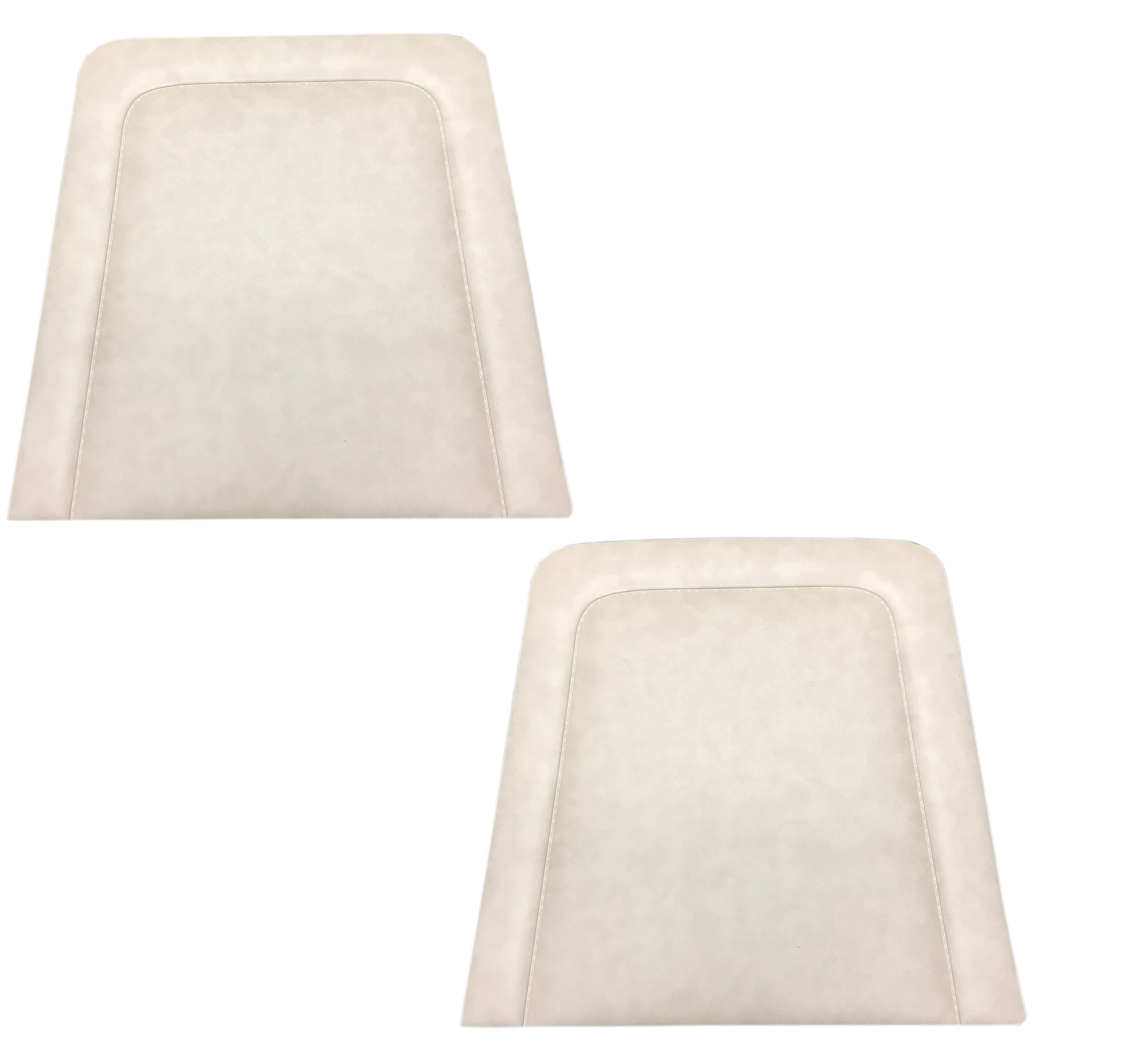 Parchment White Vinyl Back Panels for OEM Front Seats, PAIR