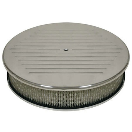 Polished Aluminum Low Profile Chrome Air Cleaner for V8 Engine