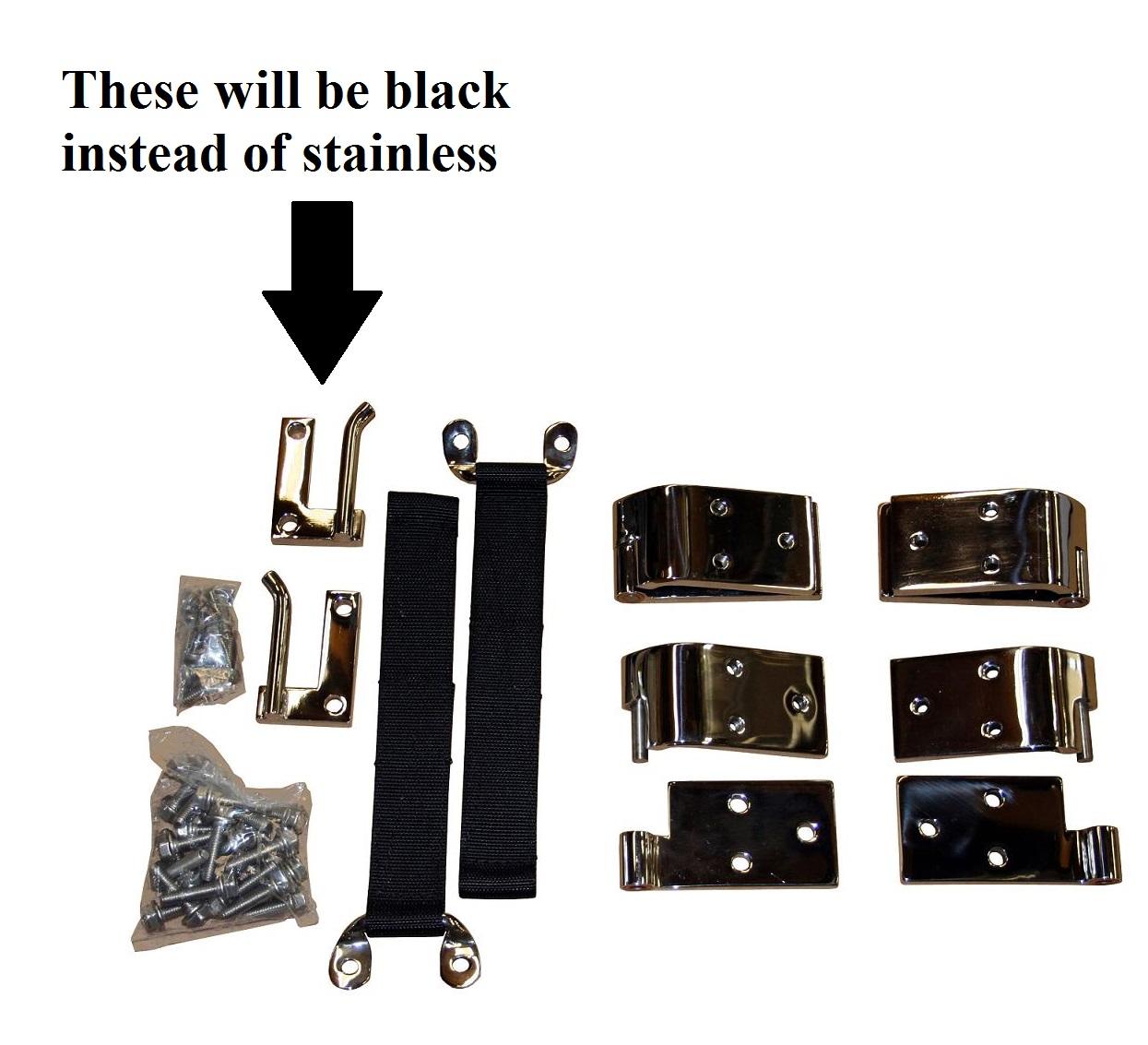 Quick Release Door Hinges - Stainless Steel (set of 4), MisMatched Hardware