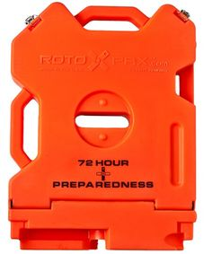 Rotopax Empty 72 Hour Preparedness Container - 2 Gallon, Orange