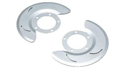 Dust shields for 76-77 Ford Bronco front disc brakes