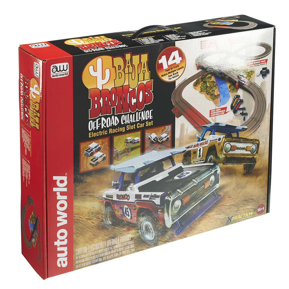 14' Baja Broncos Off-Road Challenge Slot Car Set FREE GROUND SHIPPING