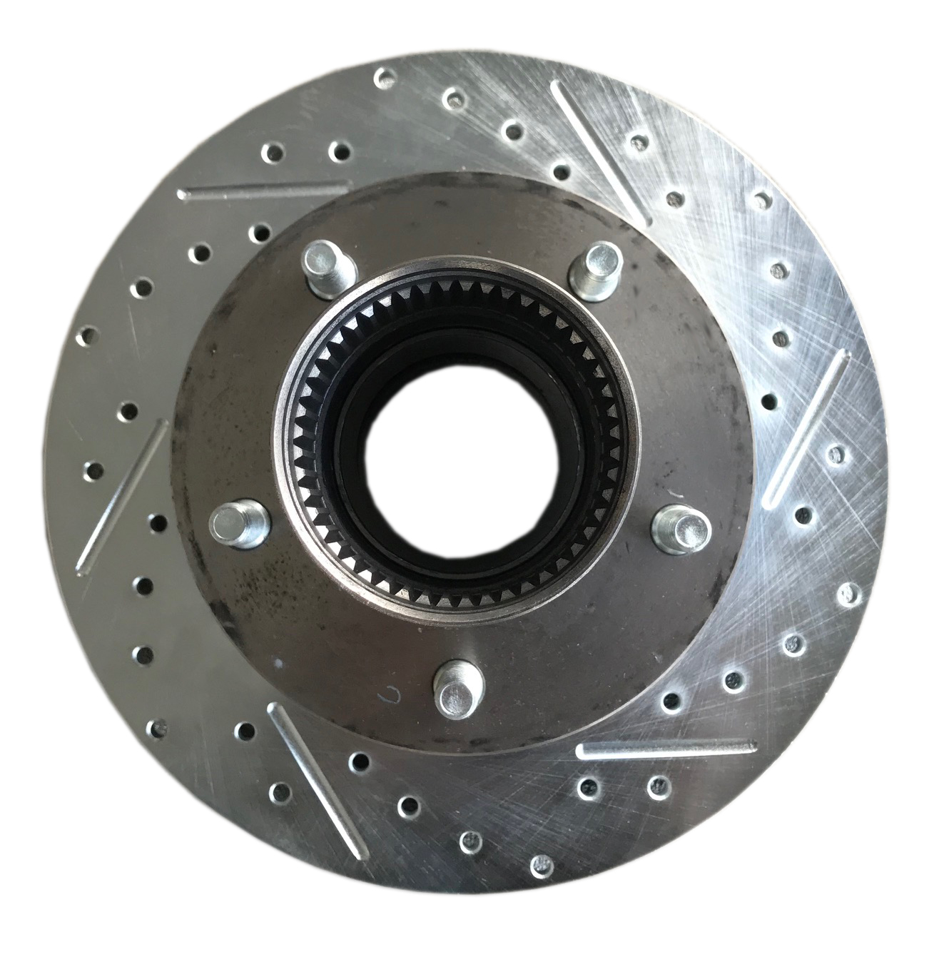 Front Slotted Disc Brake Hub/Rotor Assembly, Driver
