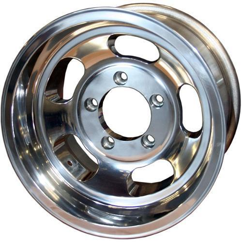 US Mags Slotted Indy Wheel, Polished Aluminum - 15x8, 5x5.5 Bolt Pattern Installed and Removed