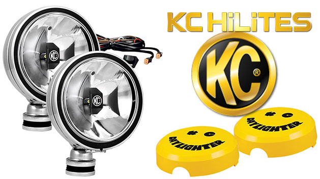 KC Hilites LED Gravity Daylighters, Stainless w/Driving Beam