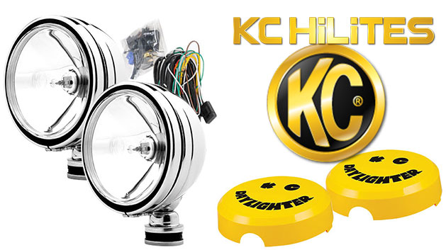 KC Hilites Halogen Daylighters, Stainless w/Spot Beam