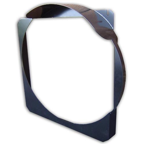 Steel Radiator Fan Shroud, V-8, Black, 3'' Body Lift Scratched