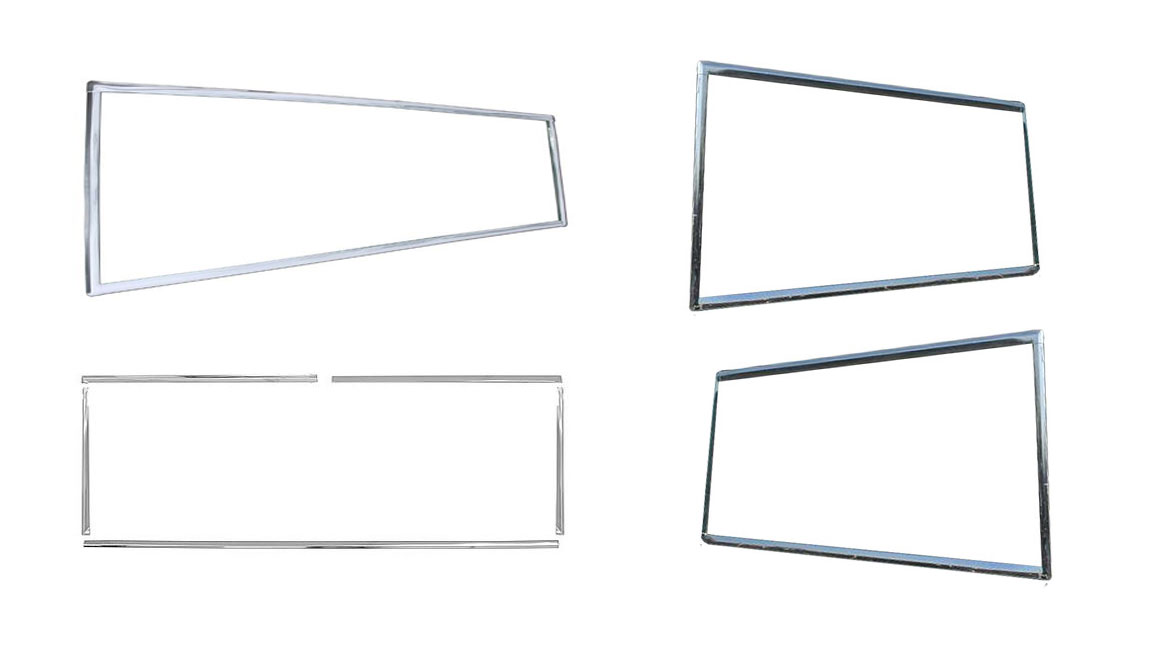 Hard Top & Windshield Window Chrome Trim Kit