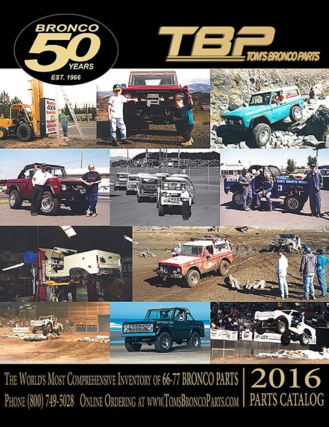2016 Tom's Bronco Parts Catalog - 66-77 Ford Bronco