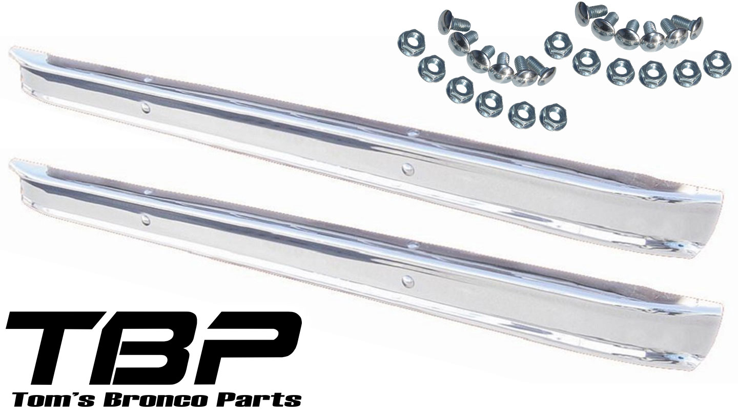 Stock Chrome Bumpers, SHOW Quality, Front/Rear, PAIR.