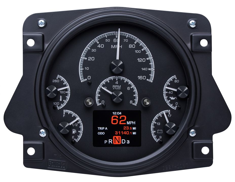 HDX Series Digital/Analog Speedometer Display - Black Alloy Face