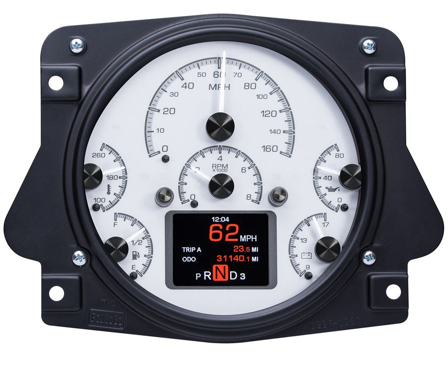 HDX Series Digital/Analog Speedometer Display - Silver Alloy Face