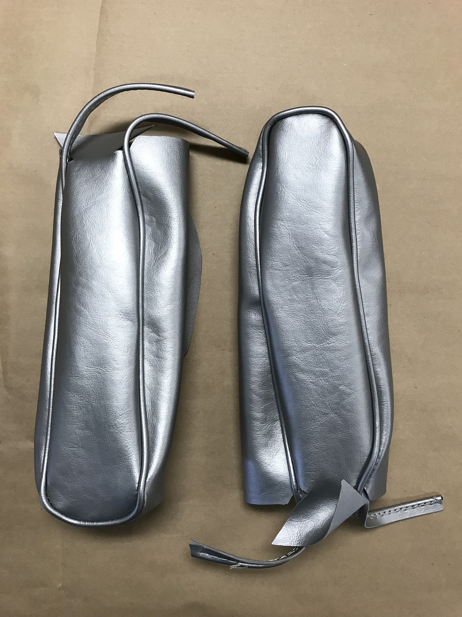 Arm Rest Covers for Rear Bench Seat - Silver, pair