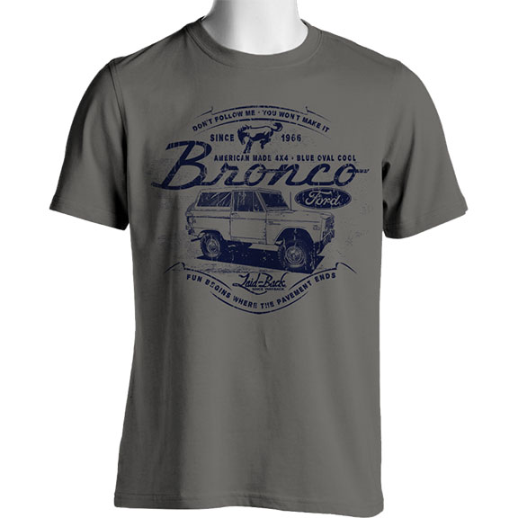 "Laid Back Bronco T-Shirt - ""Burly"" Bronco, Gray"