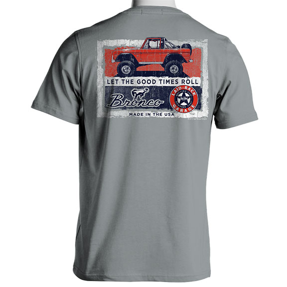 "Laid Back Bronco T-Shirt - ""Red Rambler"" Granite"
