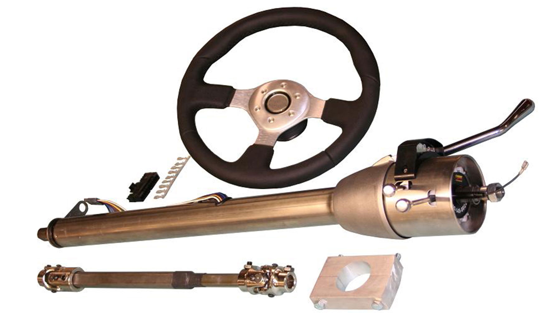 Tilt Column Kit - Automatic, Paintable, Includes Custom Steering Wheel