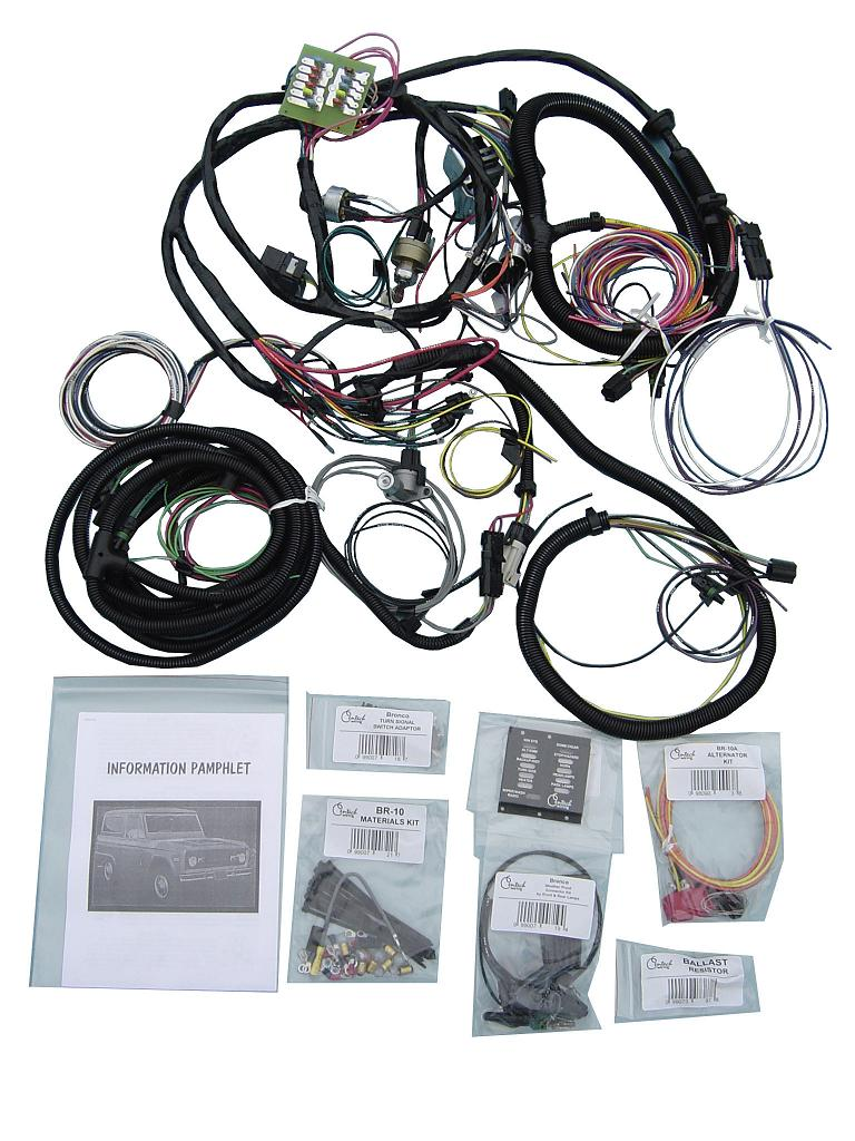 6135 centech wiring harness w oe style ignition switch toms bronco parts wiring harness for early bronco at bakdesigns.co