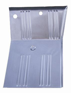 Front Floor Pan Repair Panel - Driver, OEM Style, Ribbed, Winged
