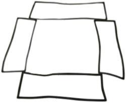 4pc Glass Seal Kit, Plain - Windshield, Side Windows & Liftgate, 66-77 Ford Bronco