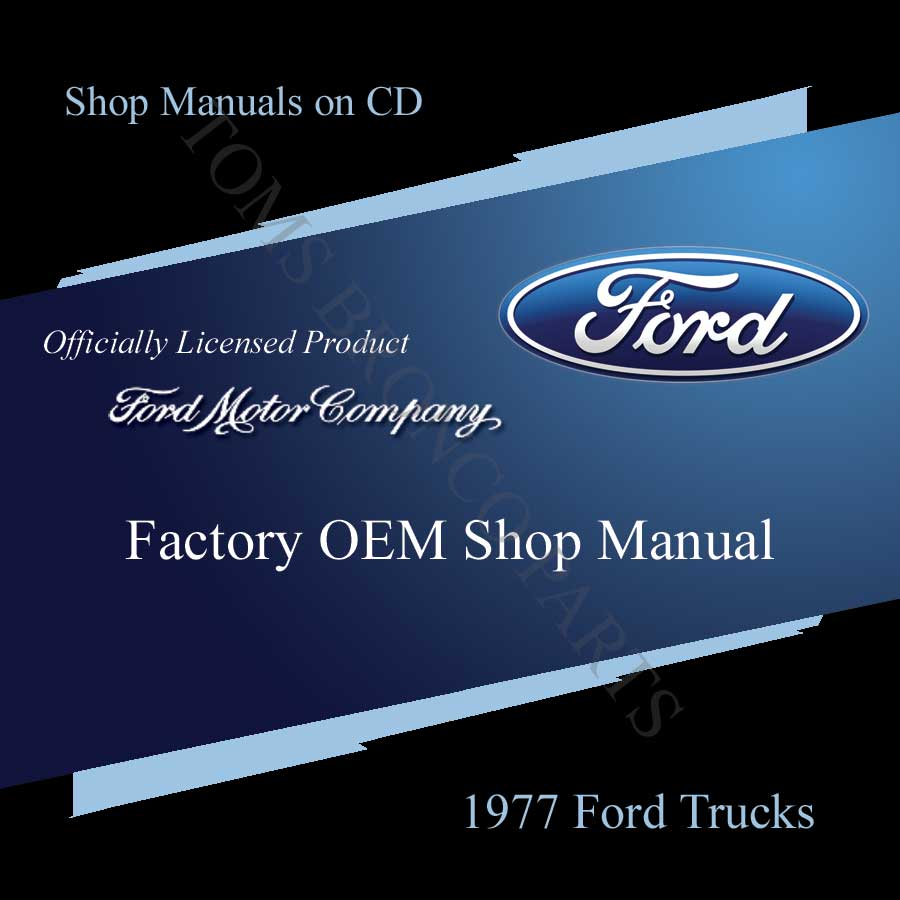 Factory ford oem shop manual on cd