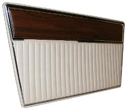 Door Panels - Deluxe, Parchment w/Woodgrain, Pair, 68-77 Ford Bronco