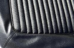 Front Bucket Seat Upholstery, Black w/Texture, 66-77 Ford Bronco (pair)