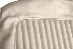 Front Bucket Seat Upholstery - Parchment Vinyl, 66-77 Ford Bronco (pair)