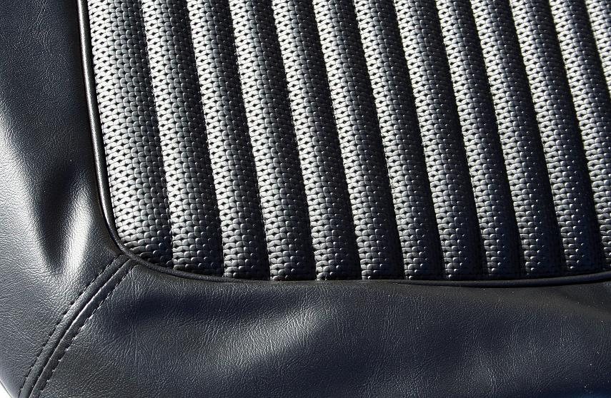 Seat Upholstery - Black w/Texture, Full Set,  68-77 Ford Bronco