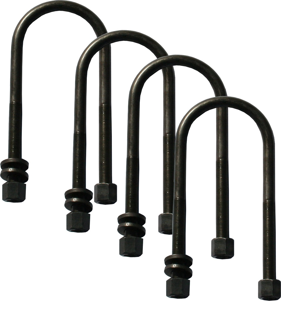 "Extended Length U-Bolts, 1/2"", Set of Four"