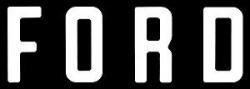 """F O R D"" Tailgate Letters, White, Vinyl"