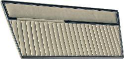 Door Panels - Deluxe, Solid Parchment, 68-77 Ford Bronco, Pair
