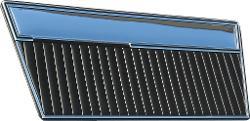 Door Panels - Deluxe, Black w/Mylar, 68-77 Ford Bronco, Pair