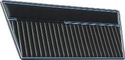 Door Panels - Deluxe, Solid Black, 68-77 Ford Bronco, pair