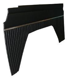 Quarter Panel Inserts - OEM-Style, Vinyl, 66-76 Ford Bronco, Black