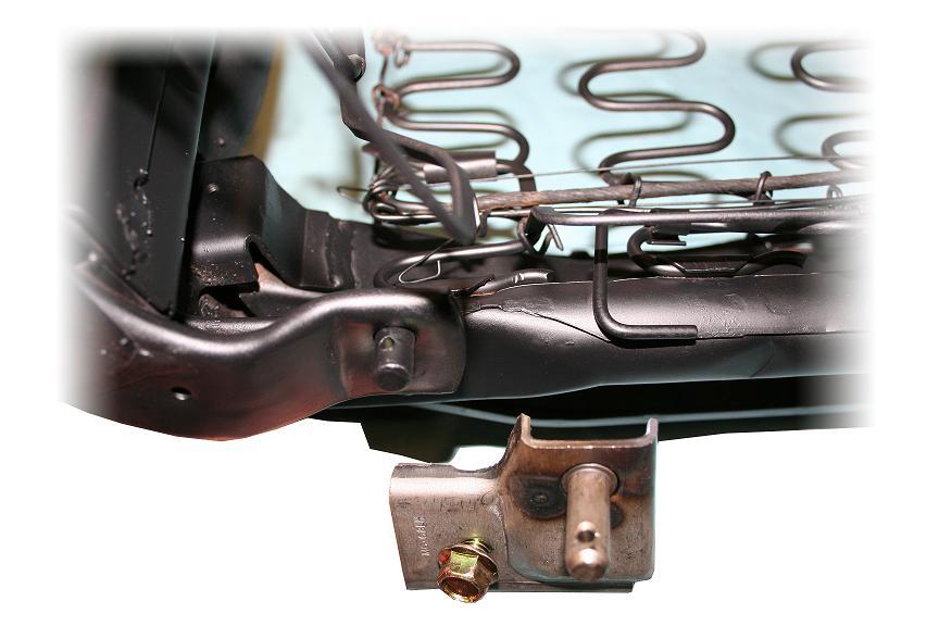 Front Bucket Seat Hinge Repair Bracket