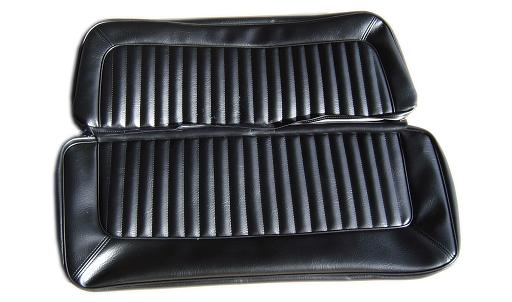 Rear Bench Seat Upholstery - Black Vinyl