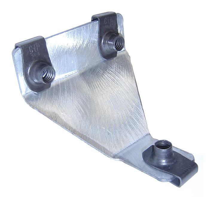 Front Fender Support Bracket w/Clips - Rear