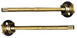 """31 Spline Rear Axles - Driver & Pass, 10"""" Drums, 2 7/8"""" Bearing, 66-75 Ford Bronco"""