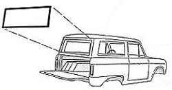 Liftgate Window Seal - Plain (No Slot for Chrome)