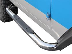 "Nerf Bars w/Step - Stainless Steel, 3"" Diameter"