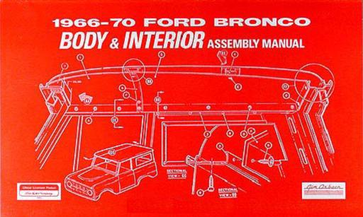 Early Ford Bronco Body & Interior Assembly Manual