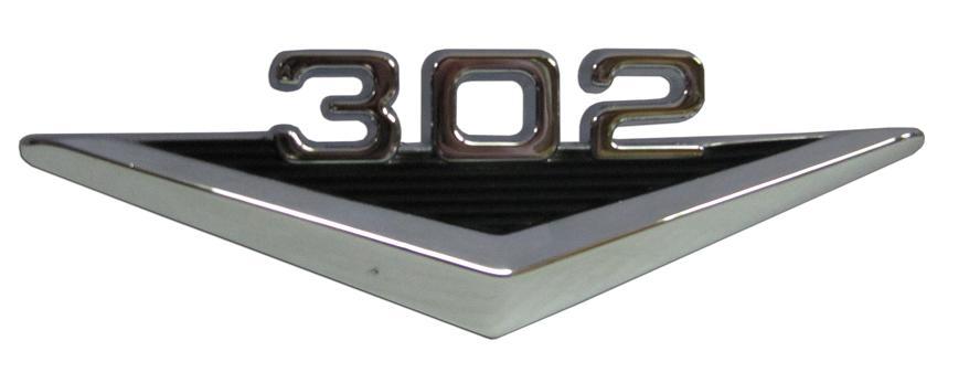 302 Fender Emblem - Vintage Style, each