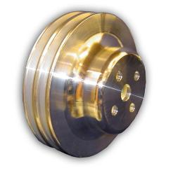Water Pump Pulley - Double Groove, Aluminum, 4-bolt