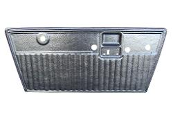 Door Panels - Formed Plastic, Black, Pleated, 68-77 Ford Bronco (pair)