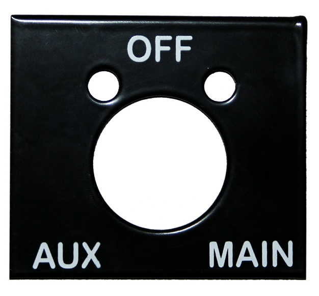 Manual Fuel Selector Tank Indicator Plate